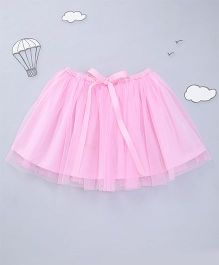 Hugsntugs Net Skirt With Bow - Pink
