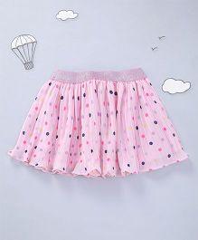 Hugsntugs Dot Print Skirt - Pink