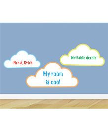 Little Jamun Clouds Wall Sticker - Blue