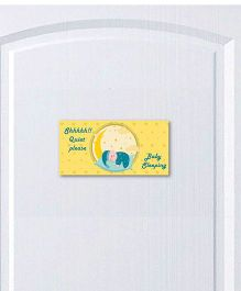 Little Jamun Baby Sleepin Door Sticker - Yellow