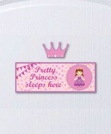 Little Jamun Princess Theme Wall Sticker - Pink