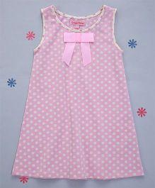 Crayonflakes Polka Dots On Straight Knit Dress - Pink