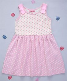 Crayonflakes Polka Dot Knitted Dress - Cream & Pink