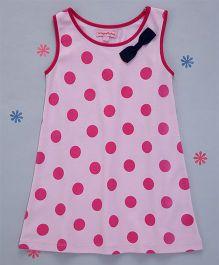 Crayonflakes Polka Dot Print Dress - Pink