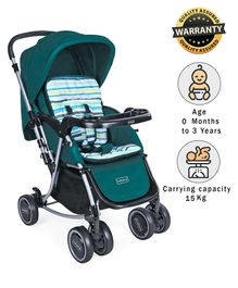 Babyhug Rock And Roll Stroller Cum Rocker - Green