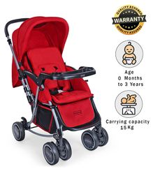 Babyhug Rock And Roll Stroller Cum Rocker - Red