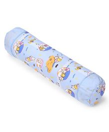 Baby Bolster With Animal Print - Blue