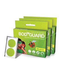 Bodyguard Premium Natural Anti Mosquito Patches Pack Of 3 - 72 Patches