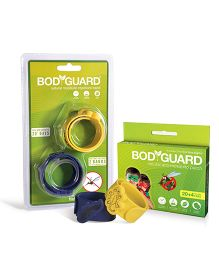 Bodyguard Premium Natural Mosquito Repellent Patches and Band - 24 Patches & Set Of 2 Bands