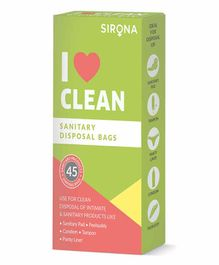 Sirona Sanitary & Diapers Disposal Bag Pack Of 3 - 45 Pieces