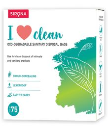 Sirona Sanitary & Diapers Disposal Bag Pack Of 5 - 75 Pieces