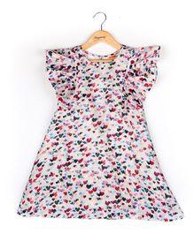 Hugsntugs Multi Color Heart Print Dress - Multicolor