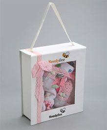 Needybee 8 Pc Baby Girl Essential Gift Set For Newborn - Pink