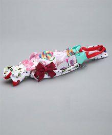 Needybee 9 Pc Baby Girl Essential Gift Set For Newborn - Multicolour