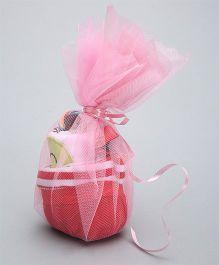 Needybee 5 Pc Baby Girl Gift Set For Newborn - Red & White