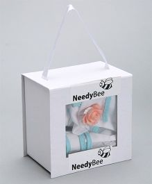 Needybee 6 Pc Baby Arrival Welcome Gift Set For Newborn - Blue