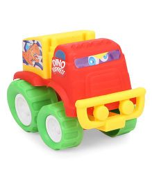 Grv Toy Truck With Big Wheels - Red Yellow