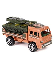 Grv Toy Army Truck With Tanker - Orange Green