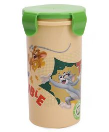 Tom And Jerry Tumbler With Lid Cream & Green - 450 ml