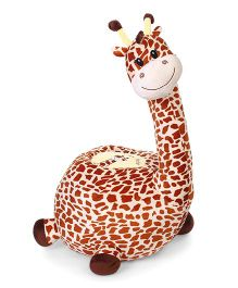 Dimpy Stuff Giraffe Seat With Support - Brown