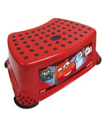 Keeeper Step Stool Cars Print - Red