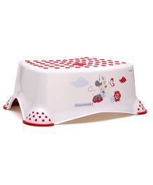Keeeper Step Stool Minnie Print - White Red