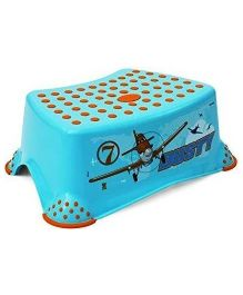 Keeeper Step Stool Planes Print - Blue