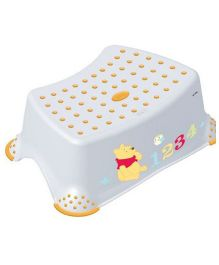 Keeeper Step Stool Winnie The Pooh & Friends - White Yellow