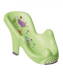 Keeeper Baby Bather Hippo Print - Lime Green