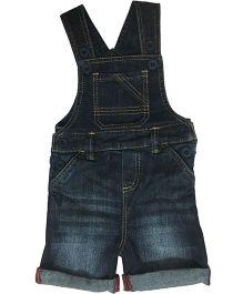 Kiddopanti Sleeveless Dungaree With Pockets - Dark Blue