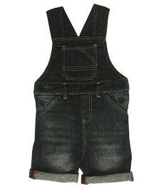 Kiddopanti Sleeveless Dungaree With Pockets - Black