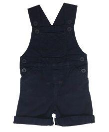Kiddopanti Sleeveless Dungaree With Pockets - Navy