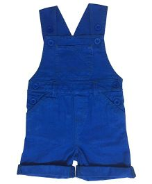 Kiddopanti Sleeveless Dungaree With Pockets - Royal Blue