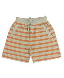 Kiddopanti Shorts With Drawstring Stripes Print - Orange