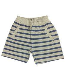 Kiddopanti Shorts With Drawstring Stripes Print - Blue