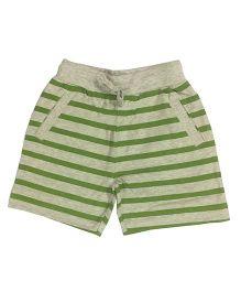 Kiddopanti Shorts With Drawstring Stripes Print - Green