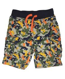 Kiddopanti Pull Up Camouflage Print Cargo Shorts - Multicolor