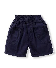 Babyhug Solid Colour Shorts - Navy Blue