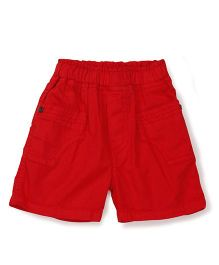 Babyhug Solid Colour Shorts - Red