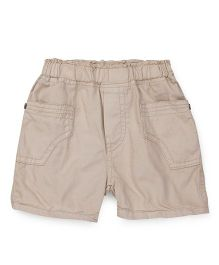 Babyhug Solid Colour Shorts - Light Beige