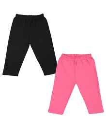 Colorfly Full Length Leggings Pack of 2 - Pink Black
