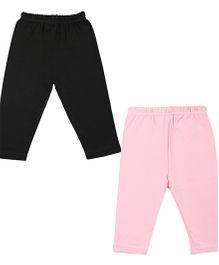 Colorfly Full Length Leggings Pack of 2 - Light Pink Black