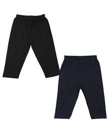 Colorfly Full Length Leggings Pack of 2 - Black Dark Blue