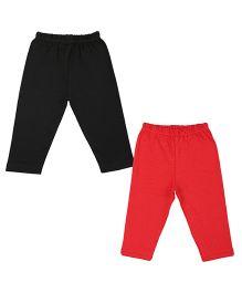 Colorfly Full Length Leggings Pack of 2 - Black Red