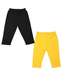 Colorfly Full Length Leggings Pack of 2 - Yellow Black