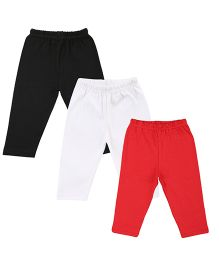 Colorfly Cotton Leggings Pack of 3 - Black Red White