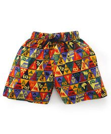 Teddy Shorts Pack Of 2 - Multi Color And Navy Blue