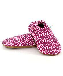 Skips Panorama Jootie Booties - Pink & White