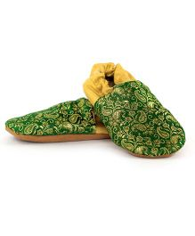 Skips Glitzy Jootie Booties - Green & Golden