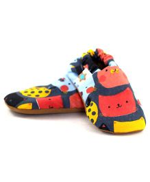 Skips Purrfection Jootie Booties - Blue Pink Yellow